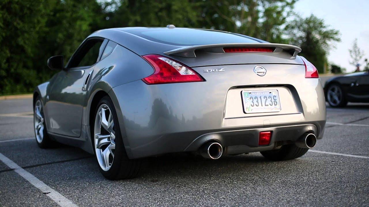 2009 Nissan 370z Stillen Stainless Steel Exhaust - YouTube