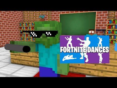 Monster School : FORTNITE DANCE CHALLENGE(NINJA PIGMAN ORANGE JUSTICE) - Minecraft Animation