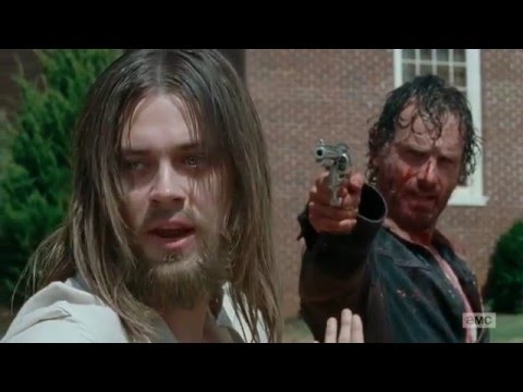 The Walking Dead 6x11 - Rick Kills A Hilltop Member [HD] - Knots Untie
