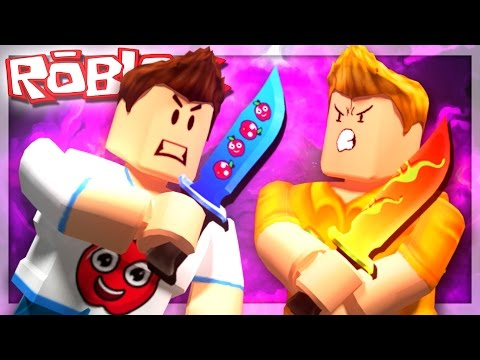 Roblox Adventures - BETTING OUR OWN CUSTOM KNIVES! (Murder Mystery 2)