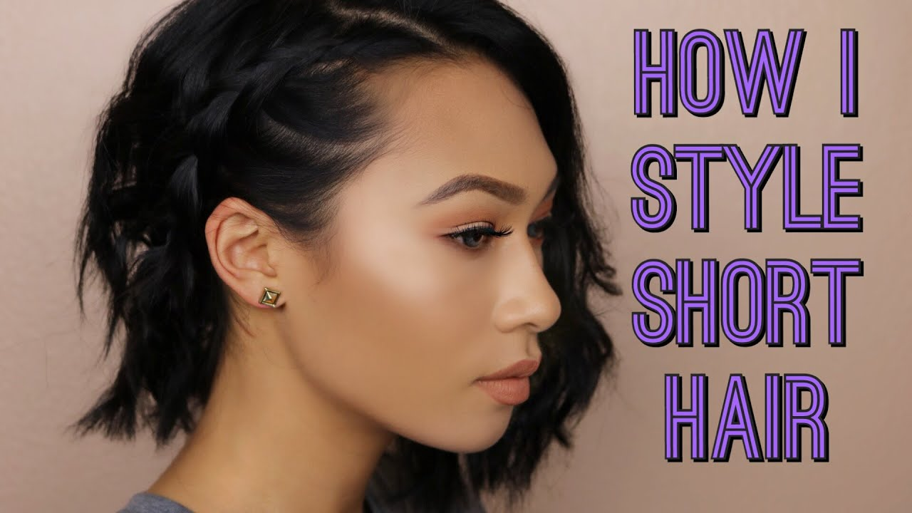 How I Style My Short Hair  Easy Hairstyles  Story Time