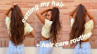 cutting my hair + haircare routine