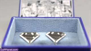 Superman Cufflinks Silver Shield Licensed by DC Comics - CuffPlanet Thumbnail