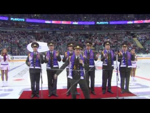 Russian Army Choir - We Will Rock You (SKA hockey)
