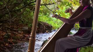 Музыка на арфе для медитации 😌 Красивый фон арфы для расслабления