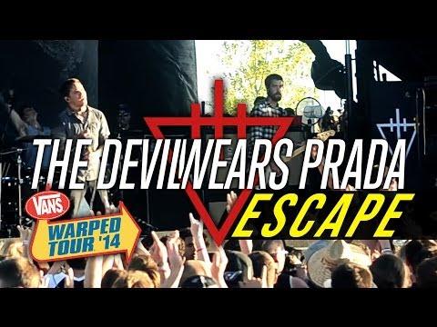 the devil wears prada quotescapequot live vans warped tour