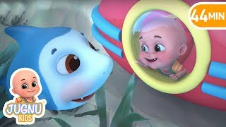 New Baby Shark | The Wheels on the submarine |  + More Nursery Rhymes & baby songs - Jugnu kids