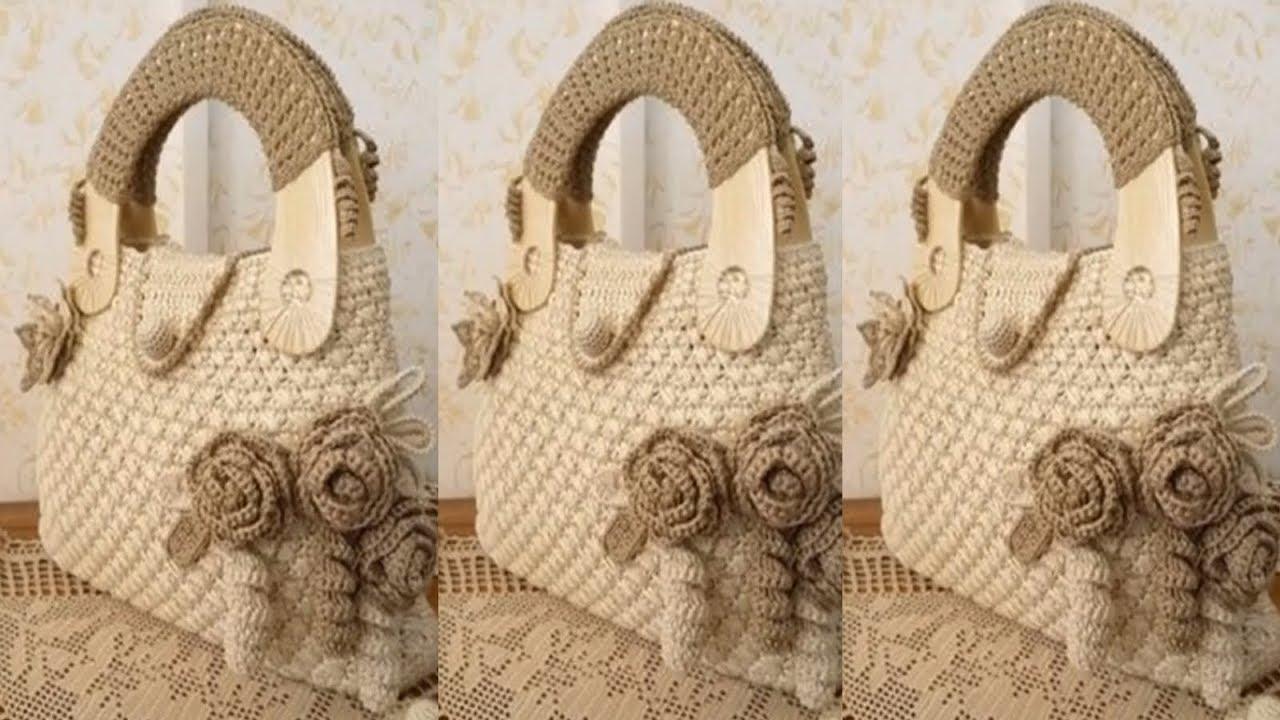 Carteras para damas tejidos a crochet moda verano 2018 - Bolsos tejidos a crochet ...