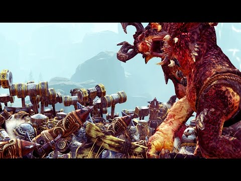 Warrior Chaos Vs Dwarf ( New DLC- Without Mod) - Massive Battle Total War Warhammer  