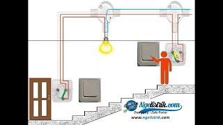 Cara Kerja Saklar Tukar/Saklar Hotel || 2 Way Light Switch Wiring || Staircase Wiring Connections