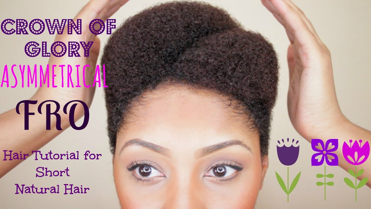 Asymmetrical Afro Tutorial For Short Natural Hair