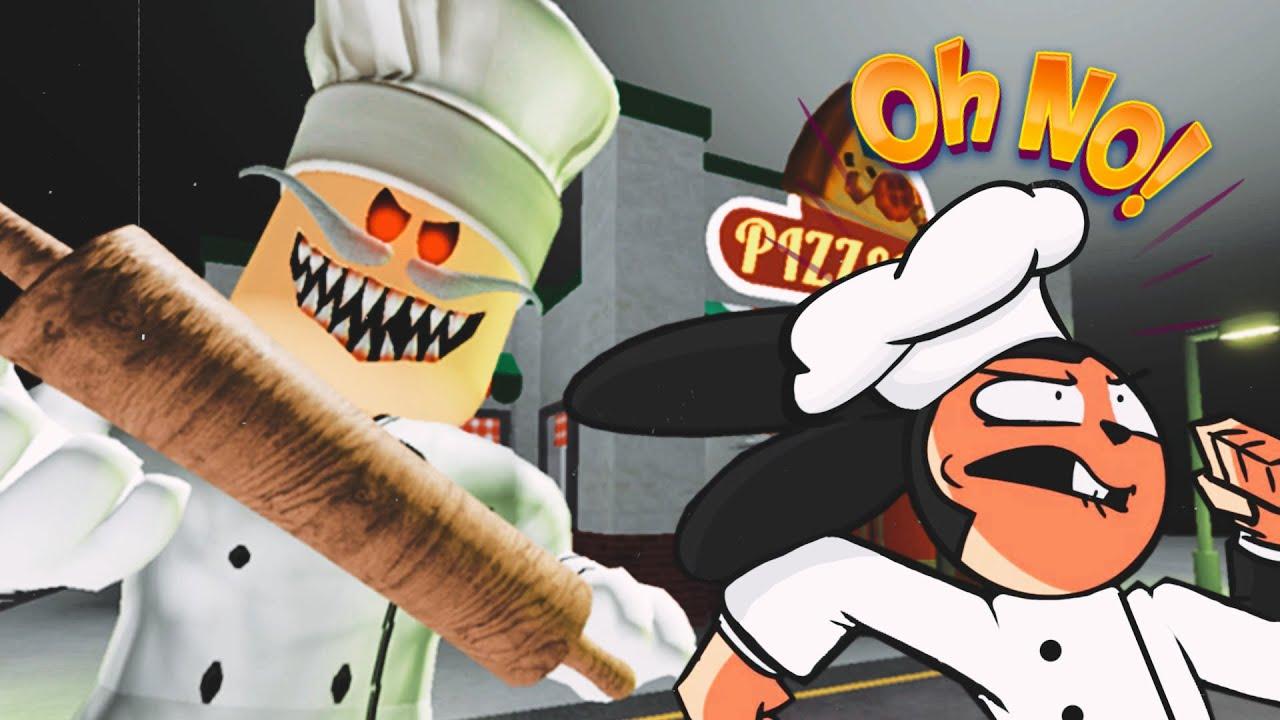 ESCAPA del PIZZERO MALDITO | (Escape Papa Pizza's Pizzeria! SCARY OBBY) - Roblox ITOWN