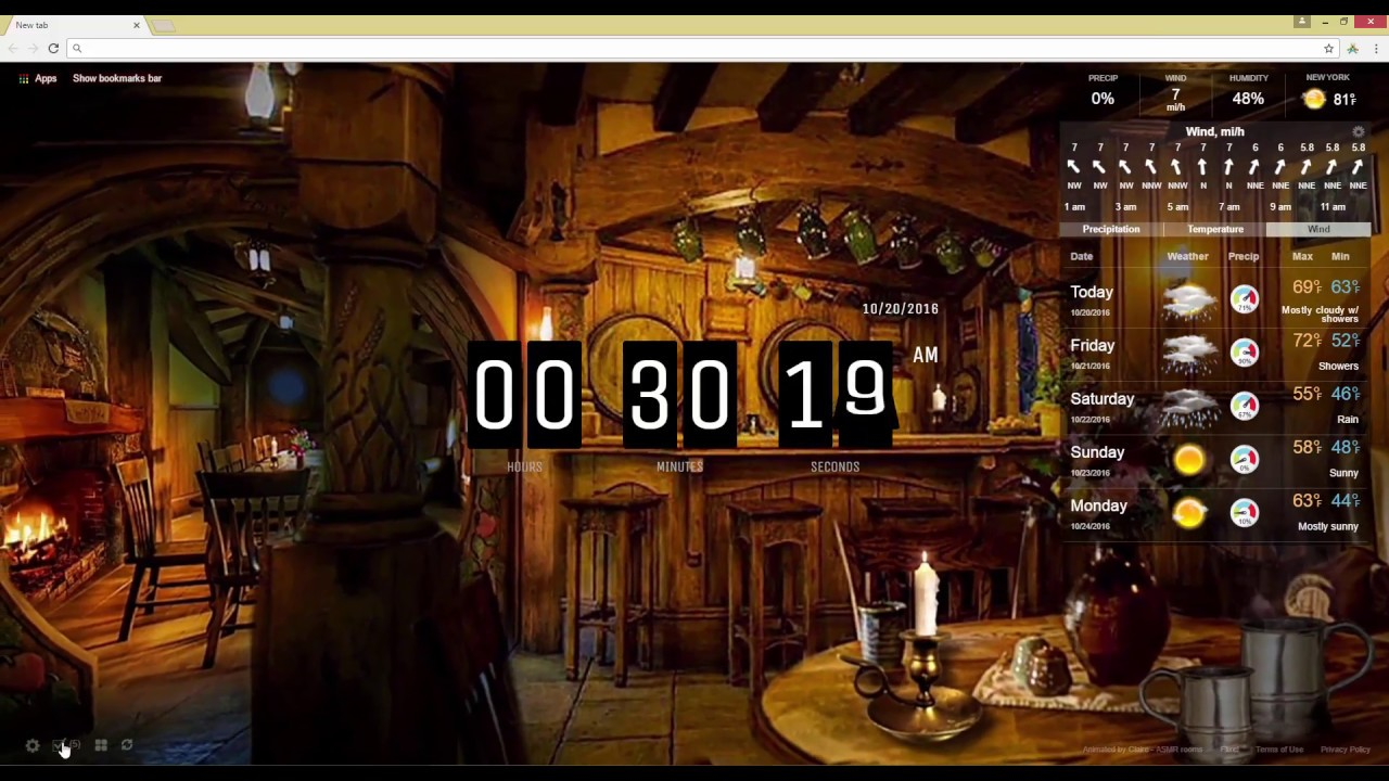 Lord Of The Rings Green Dragon Inn Live Wallpaper Youtube