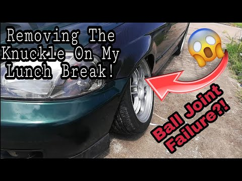 92-2000 Honda Civic knuckle / Spindle Removal To Replace Ball Joint And Wheel Bearing