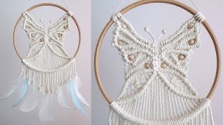 DIY Macrame Butterfly / Dreamc…