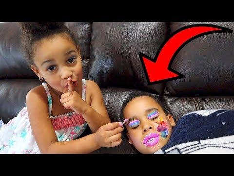 Makeup Prank on Sleeping Brother!!