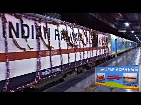 The New and Fastest: Allahabad HUMSAFAR exp | Super Decoration on the Train