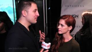 "Gillian Alexy at ""Outsiders"" Red Carpet at NYTVF with Arthur Kade"