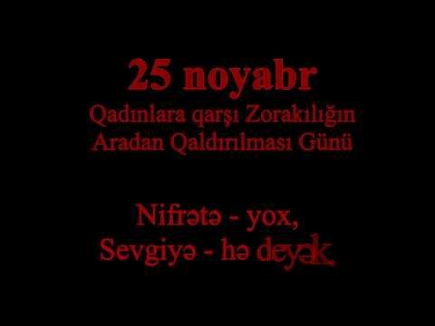 Nifrətə - yox, Sevgiyə - hə deyək.