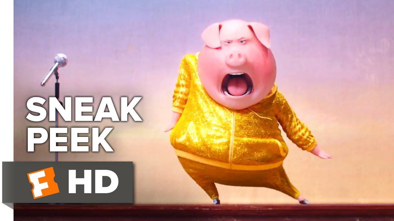 Cute Pig Cartoon Wallpaper Sing Official Sneak Peek 1 2016 Scarlett Johansson