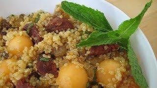 California Golden Raisin, Quinoa And Melon Salad