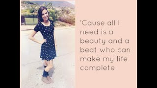 """Beauty and a Beat"" - Cimorelli (Cover - Lyrics)"