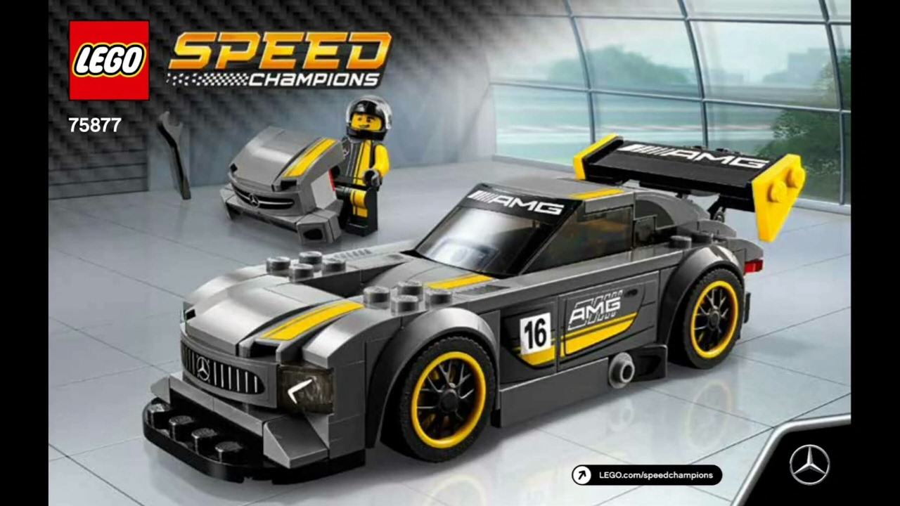 2017 lego speed champions mercedes amg gt3 instruction 75877 new youtube. Black Bedroom Furniture Sets. Home Design Ideas