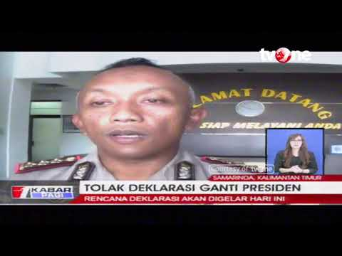 Deklarasi Ganti Presiden Ditolak Warga Samarinda, Kaltim