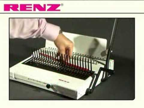 rexel binding machine instructions