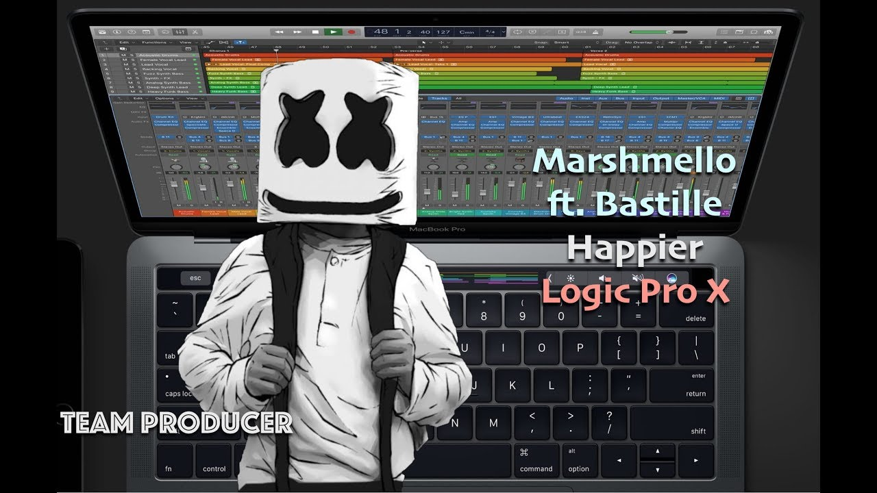 Marshmello ft  Bastille - Happier (Logic Pro X Remake + FREE DOWNLOAD)