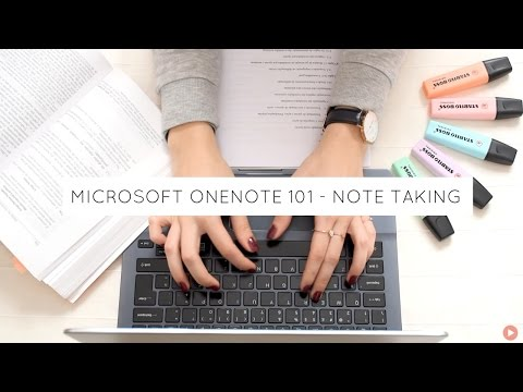 MS OneNote 101 - Note Taking