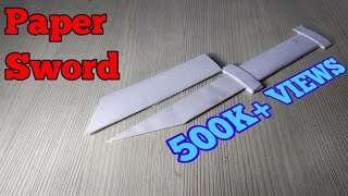 How to Make a Paper Sword - Paper Origami Sword