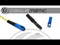 Cómo instalar un conector rápido fibra óptica SC/PC SM 9/125um distribuido por CABLEMATIC ®