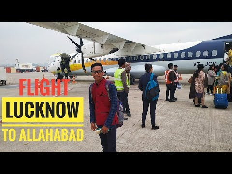 Lucknow to Allahabad Prayagraj flight Jet Airways✈️