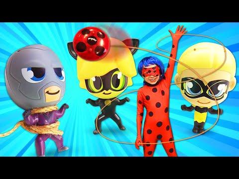 Игрушки Чиби Леди Баг и Супер Кот - Как остановить Бражника? - Сборник видео для детей.
