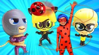 Іграшки Чібі Леді Баг і Супер Кіт - Як зупинити Бражника? - Збірник відео для дітей.