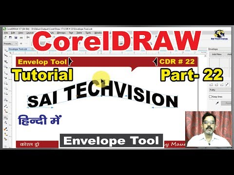 How to use Envelope Tool With Full Property Function in CorelDraw X-7,6,5,4,3 |Hindi/Urdu| # 22