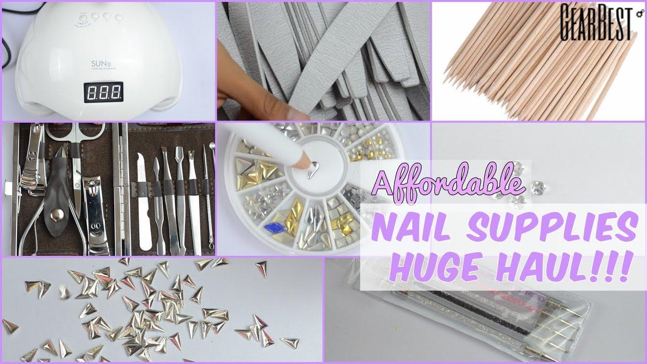 Huge Cheap Nail Supplies Haul | Gearbest