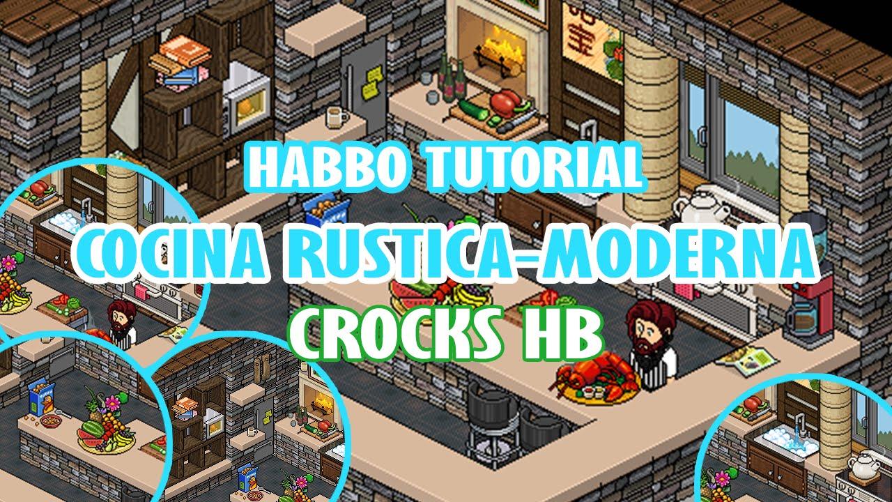 Tutorial cocina rustica moderna habbo version youtube for Casa moderna habbo