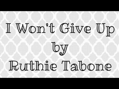 "Cover of Jason Mraz's ""I Won't Give Up""