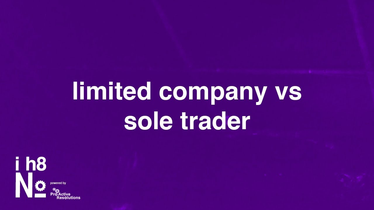 sole trader to limited company