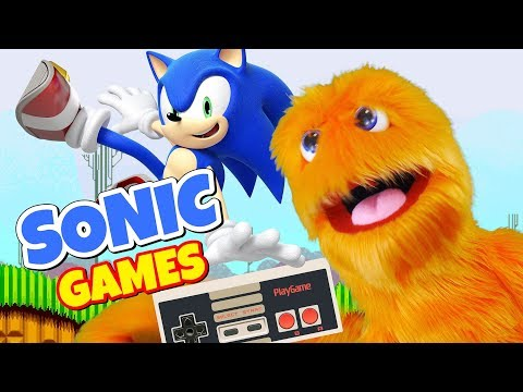 Fuzzy Puppet plays Sonic Runners Adventure 🎮 Tiny Wings, Goat Simulator, Sausage Run, Geometry Dash