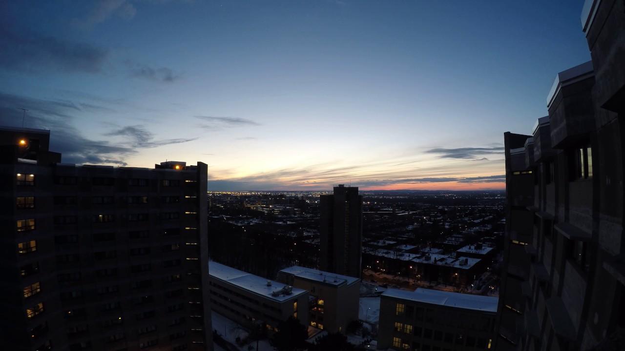 Timelapse coucher de soleil montr al sous la neige 08 - Coucher de soleil montreal ...