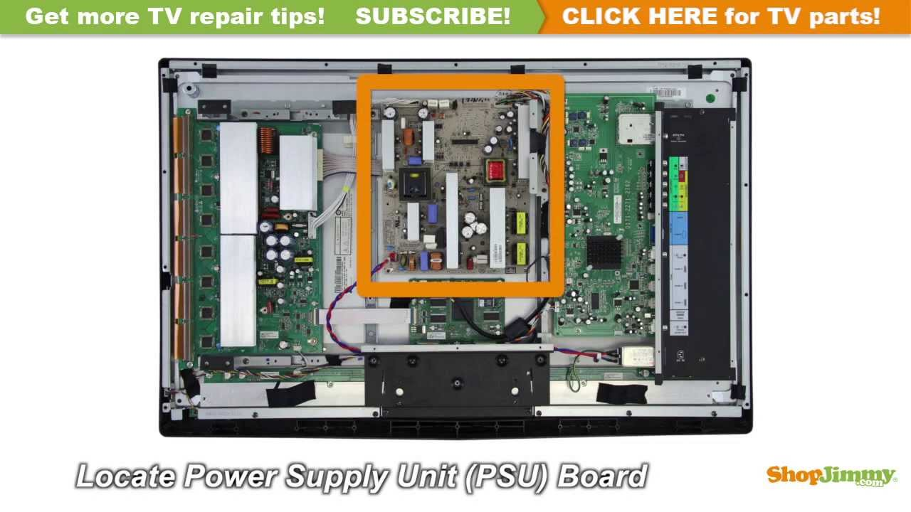 maxresdefault vizio vp322 & other lcd tv repair no power tutorial youtube vizio tv wiring diagram at bayanpartner.co