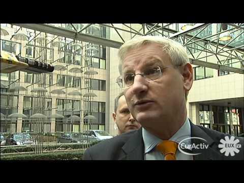 Sweden's Carl Bildt; 'EU must aid in Palestinian State Building'
