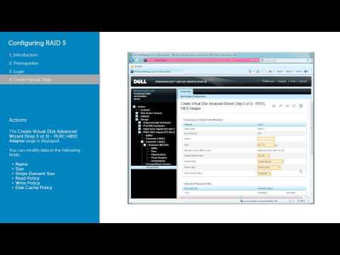 Configuring RAID 5 Virtual Disk using Server Administrator - Dell OMSA