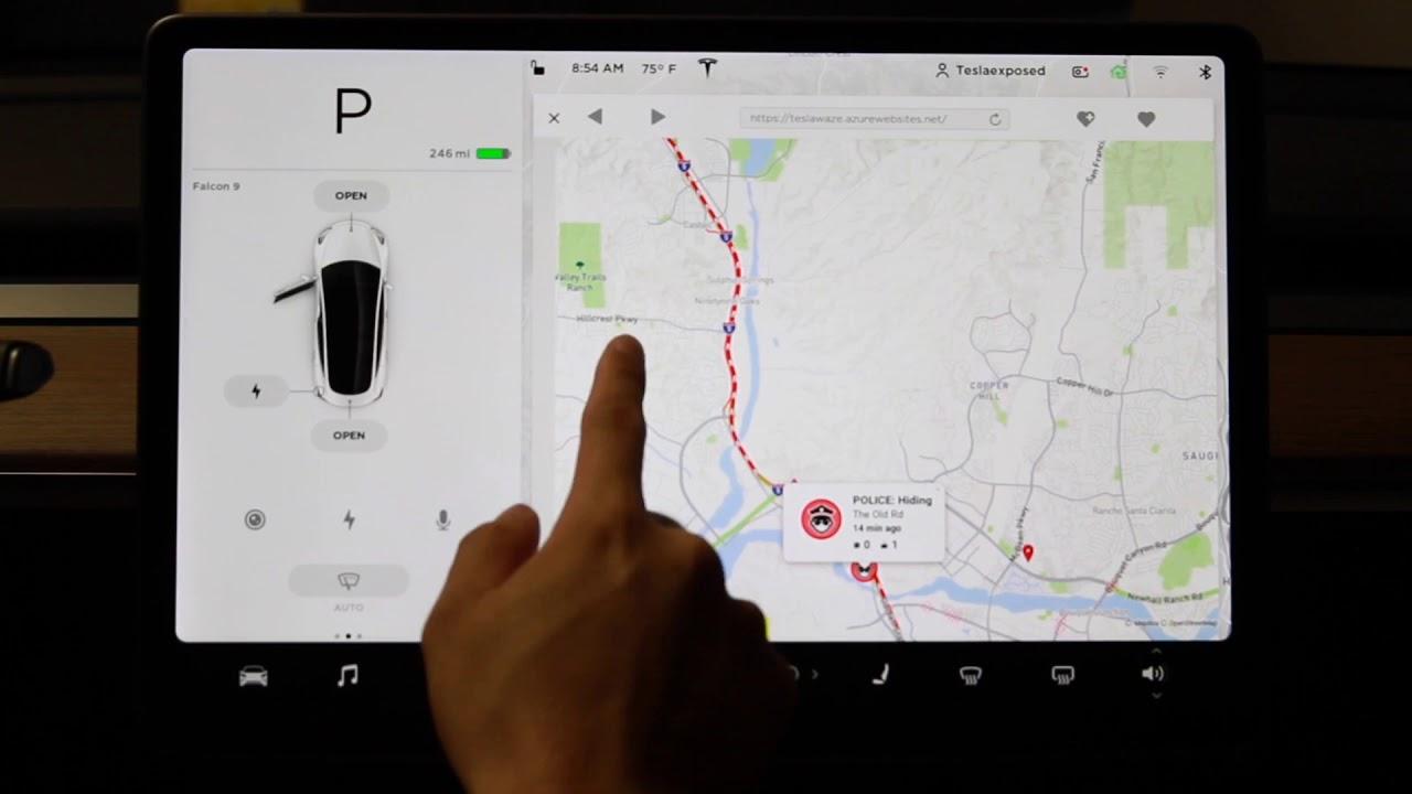 Tesla Model 3 Nav. Tracks POLICE SPEED TRAP And More