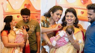 "Vijay Tv Anandhi Ajay Baby ""Arya veer"" Naming Ceremony Sweet & Lovely Moments 