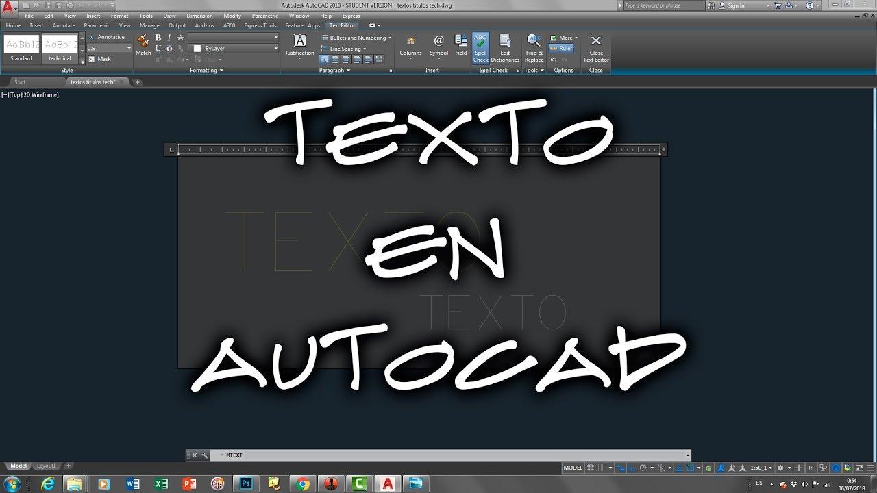 Creacin y edicin de textos en AutoCAD  YouTube