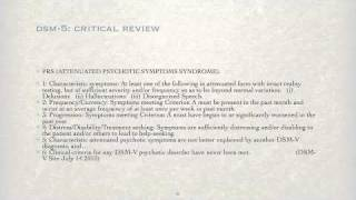 DSM-5: Critical Review - Part 3 Thumbnail